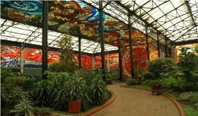El Jardín Botánico Cosmovitral ubicado en Toluca, capital del Estado de México es el vitral más grande del mundo,