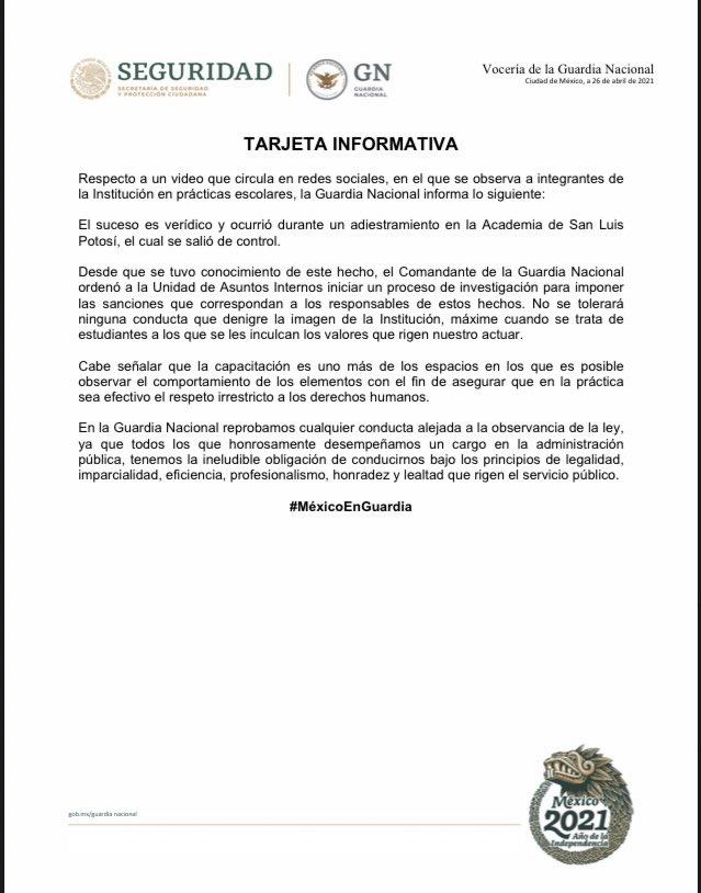 Pelea Campal entre elementos de la Guardia Nacional en Academia de San Luis Potosí, tAR