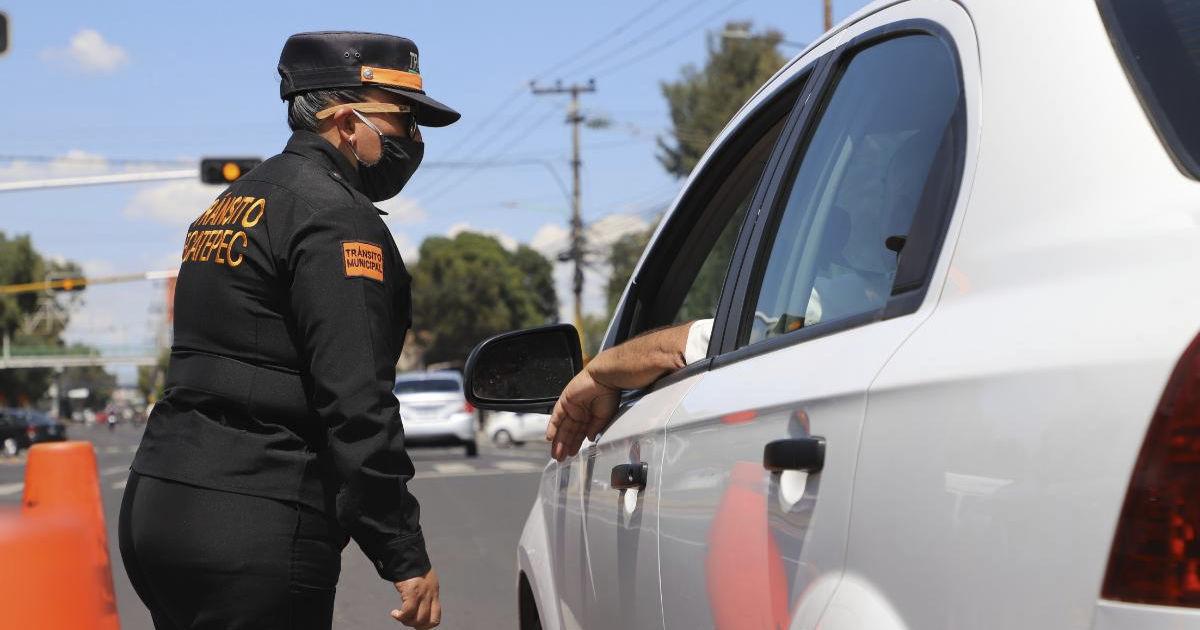 Infracciones de tránsito en Ecatepec suspendidas hasta nuevo aviso