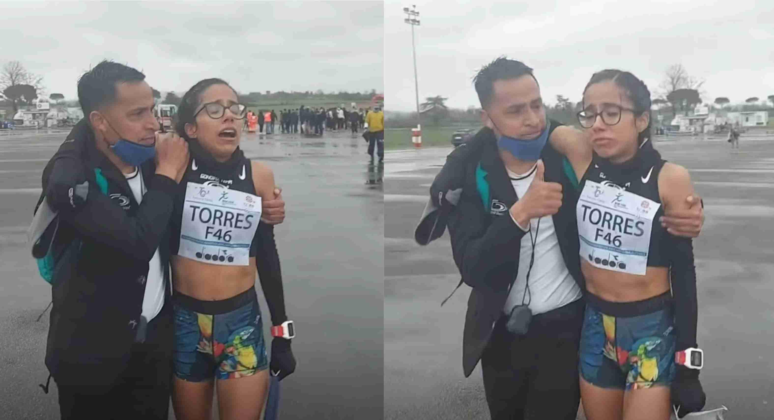 Atleta mexicana con marca para Tokyo 2020 con lágrimas en los ojos