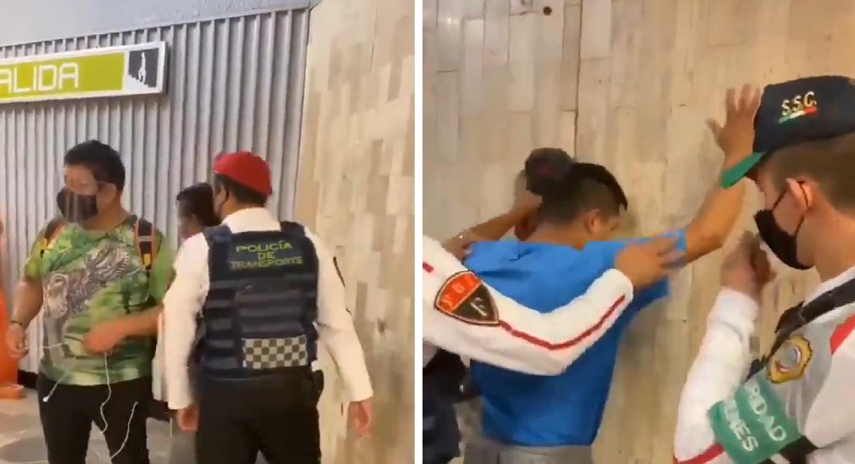 Metro CDMX: Usuario pretendía agredir a pareja gay después de besarse