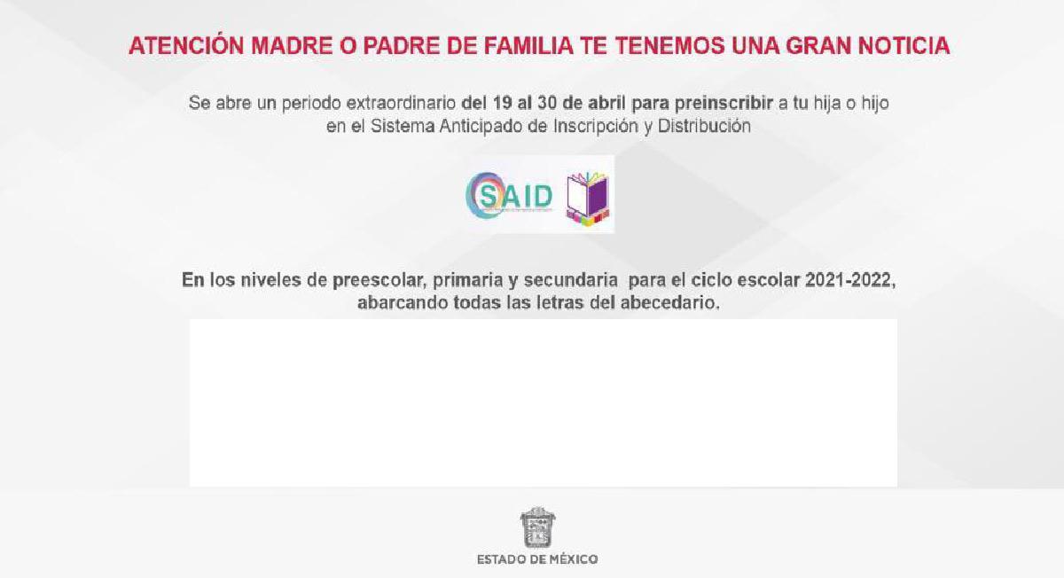 SAID 2021 – Cómo realizar modificaciones de datos en preinscripción extraordinaria preescolar, primaria y secundaria