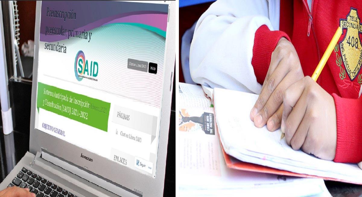 SAID 2021 – Periodo extraordinario preinscripciones abril 2021 para preescolar, primaria y secundaria