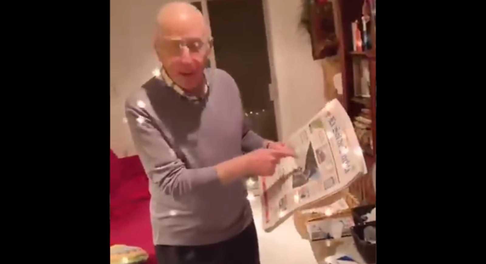Papá reacciona a video de su hija publicada en un periódico pintando mural feminista