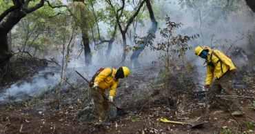 incendio del tepozteco controlado en un 100% y reducido a un 90% de acuerdo con la CONAFOR
