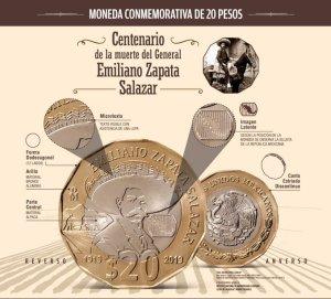 mira el video de la nueva moneda conmemorativa de la muerte del caudillo del sur, emiliano zapata salazar que ha lanzado banxico