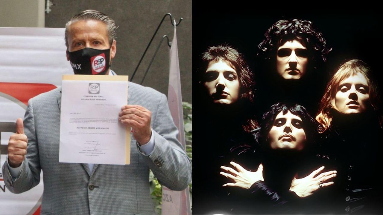 Alfredo Adame se cuelve viral por usar la cancion We Will Rock You de Queen como tema para su campaña política como candidato a diputado federal por el partido Redes Sociales Progresistas (RSP).