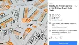 A través de Mercado Libre se vende boleto del Sistema de Transporte Colectivo (STC) Metro de la CDMX hasta en 2 mil pesos