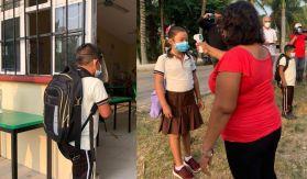 Alumnos de Campeche regresan a las aulas después de un año