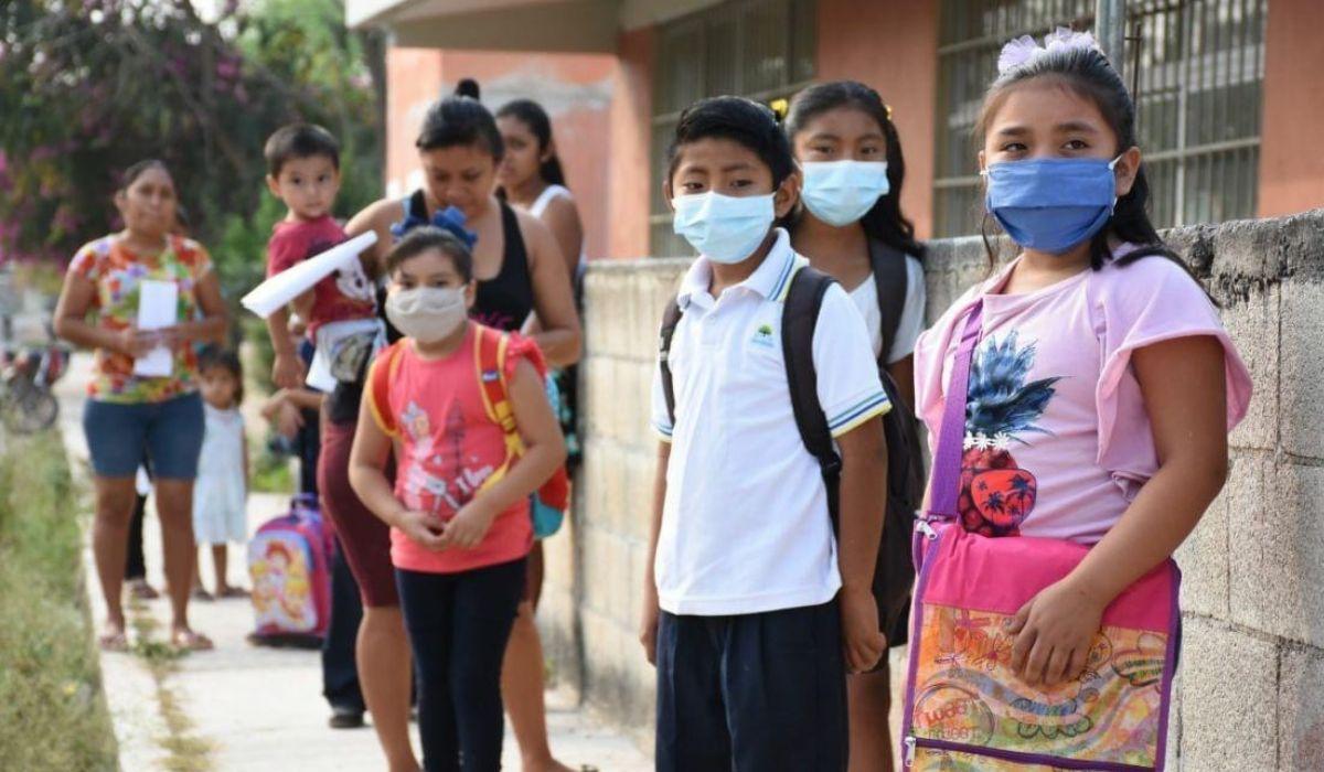 Niños formados para ingresar a las aulas