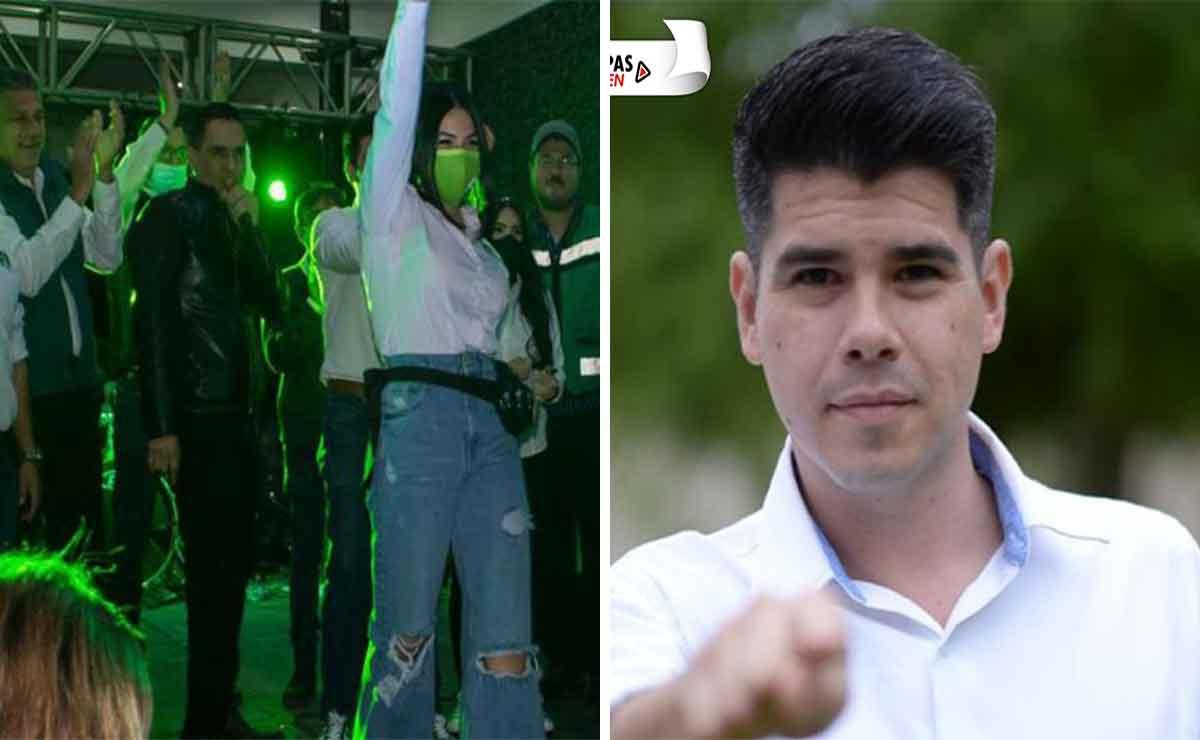 candidato promete concierto en Reynosa.