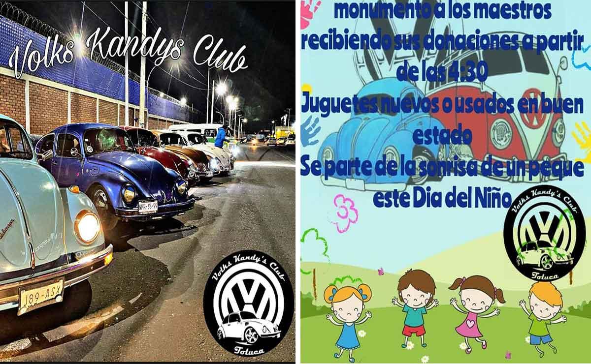 Club de Vochos de Toluca recauda juguetes para niños de escasos recursos