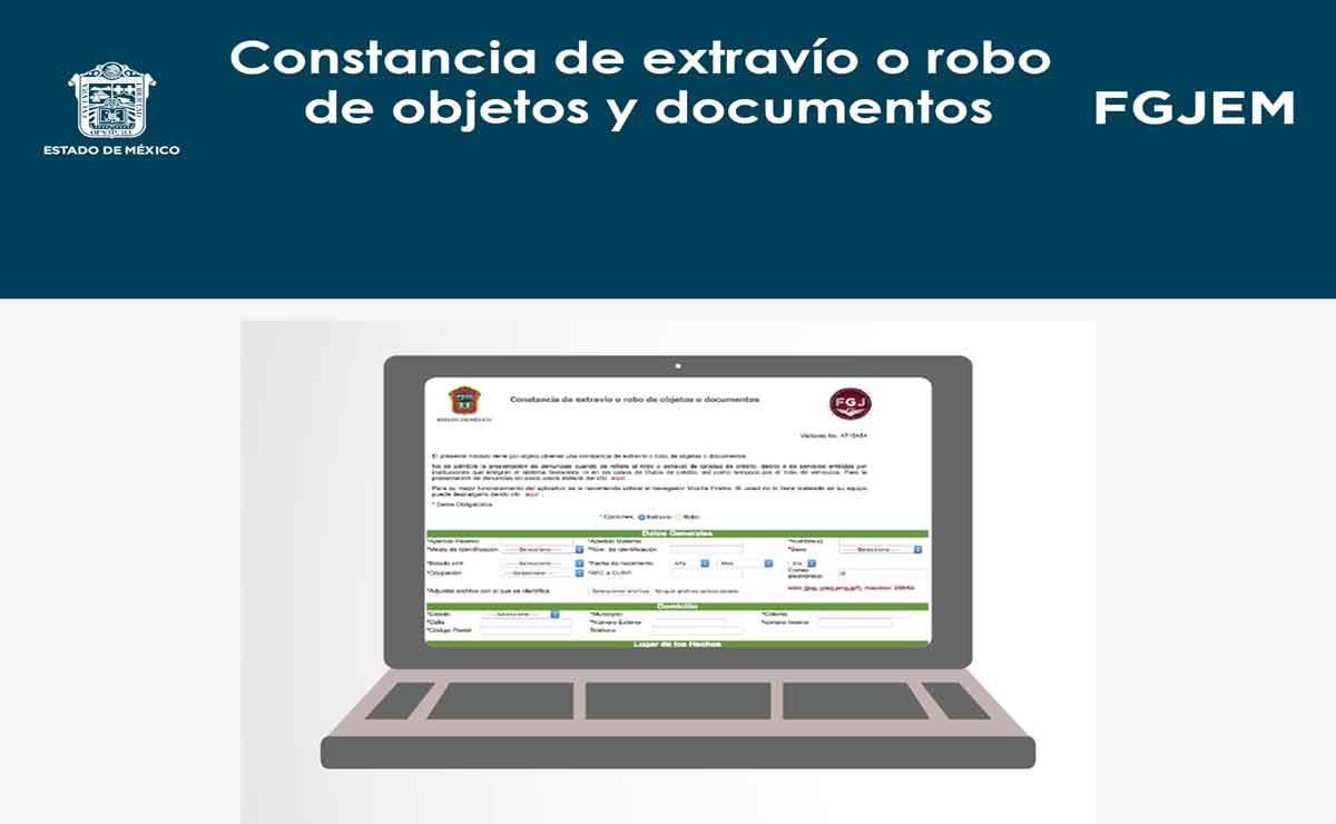 Cómo tramitar una constancia de extravío o robo de objetos y documentos en Edomex