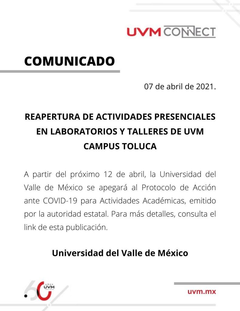 El comunicado que dieron las autoridades de la institución