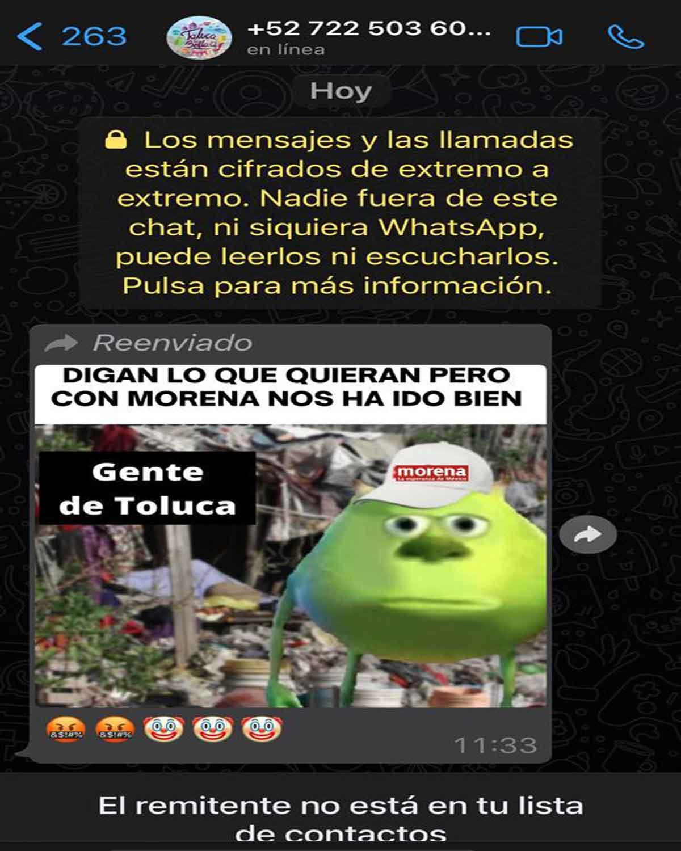 Utilizan imagen corportativa de Toluca para enviar mensajes.