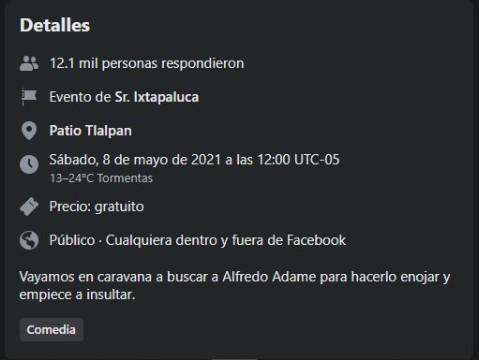 Alfredo Adame Redes Sociales