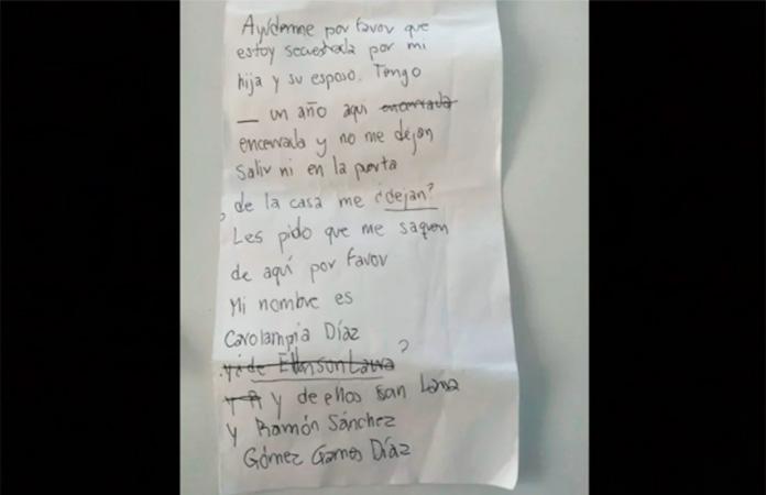 Carta de auxilio de la señora de la Tercera edad