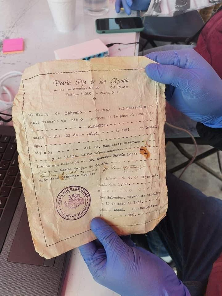 Este fue el documento que presento el señor alejandro