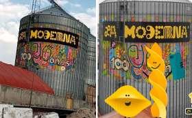 La moderna lanza mural para conmemorar sus 100 aniversario.