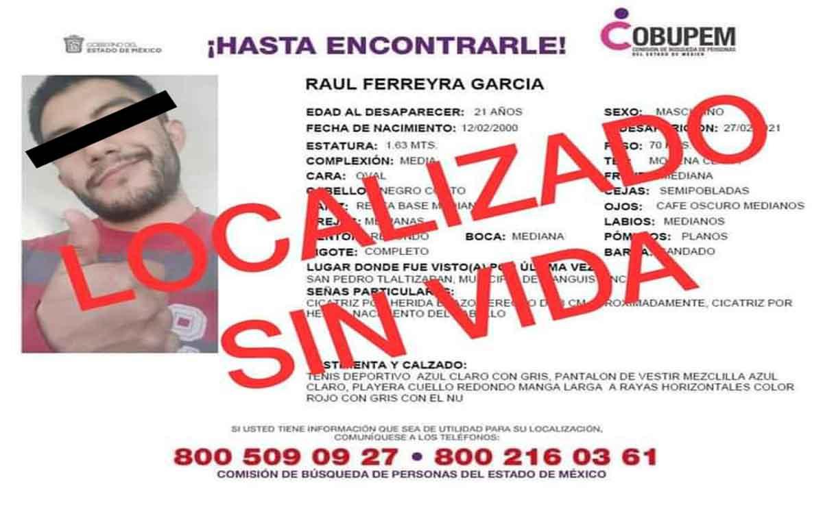 Localizan sin vida a Raúl.