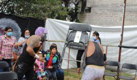 Duelo entre dos luchadores en territorio mexiquense