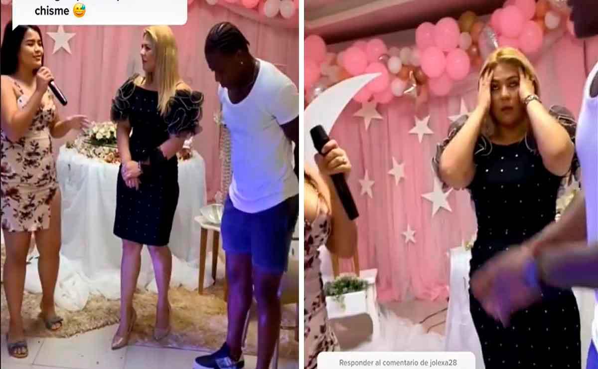 Mujer expone infidelidad de novio y su mamá en plena fiesta.