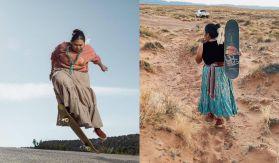 Naiomi Glasses la chica que asombro al mundo con sus movimientos de skatebording