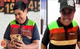 niño del oxxo lo vuelve a hacer y ahora trabaja para Burger King