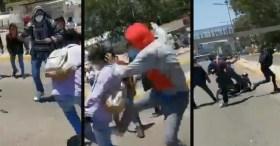 Periodistas agredidos