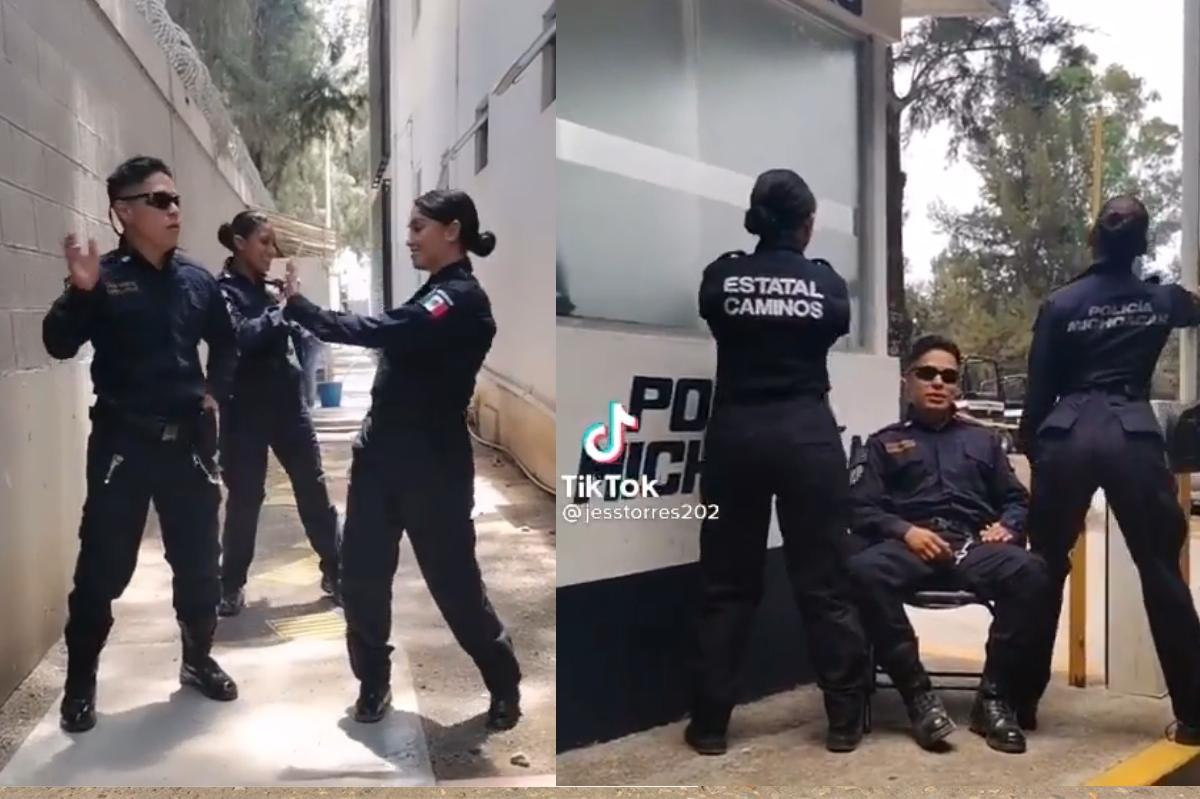 Abren investigación contra policías de Michoacán por videos en Tik Tok
