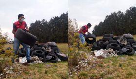 En zinacantepec preocupados por el medio ambiente hicieron recolección de llantas