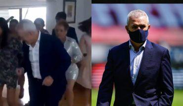 Javier Aguirre fue suspendió por unos partidos después de haber sido grabado en una fiesta