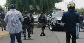 Se despliegan policías en Metepec.
