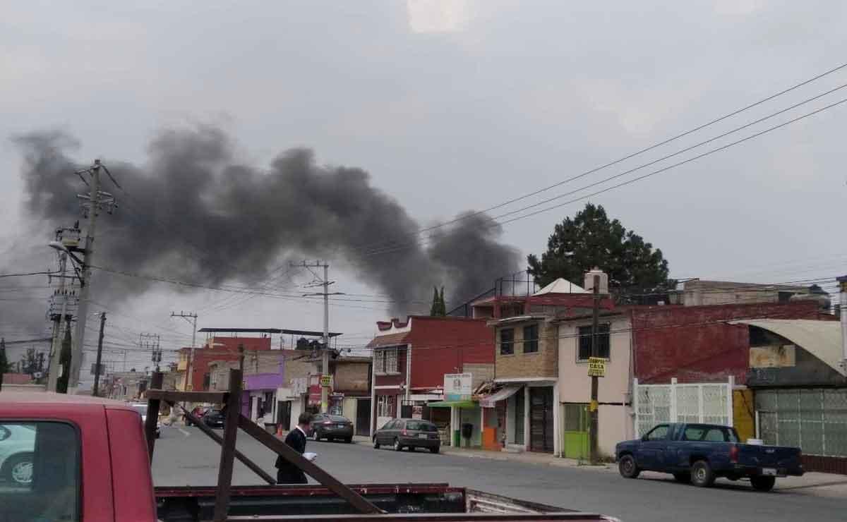Incendio en San Lorenzo Tepaltitlán.