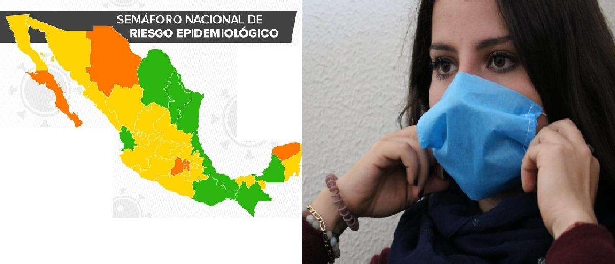 Semáforo epidemiológico en México con 8 estados en verde
