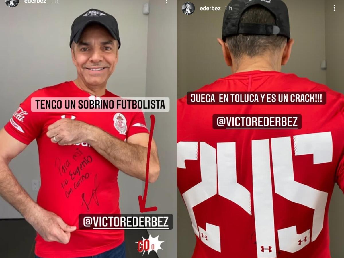 Eugenio Derbez recibió una playera de su sobrino