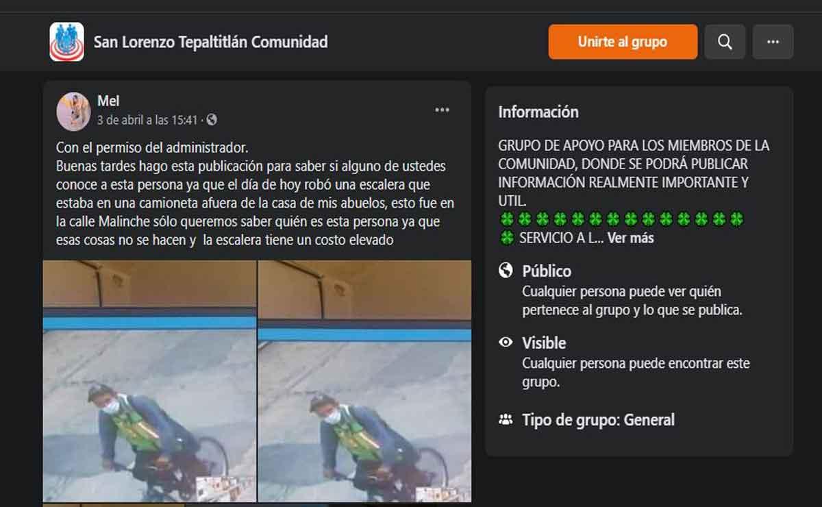 Toluca denuncian robo de escalera en San Lorenzo Tepaltitlán