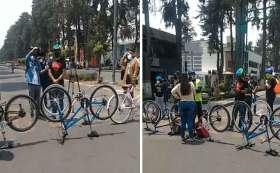 Toluca quitan ciclovías en Paseo Colón.