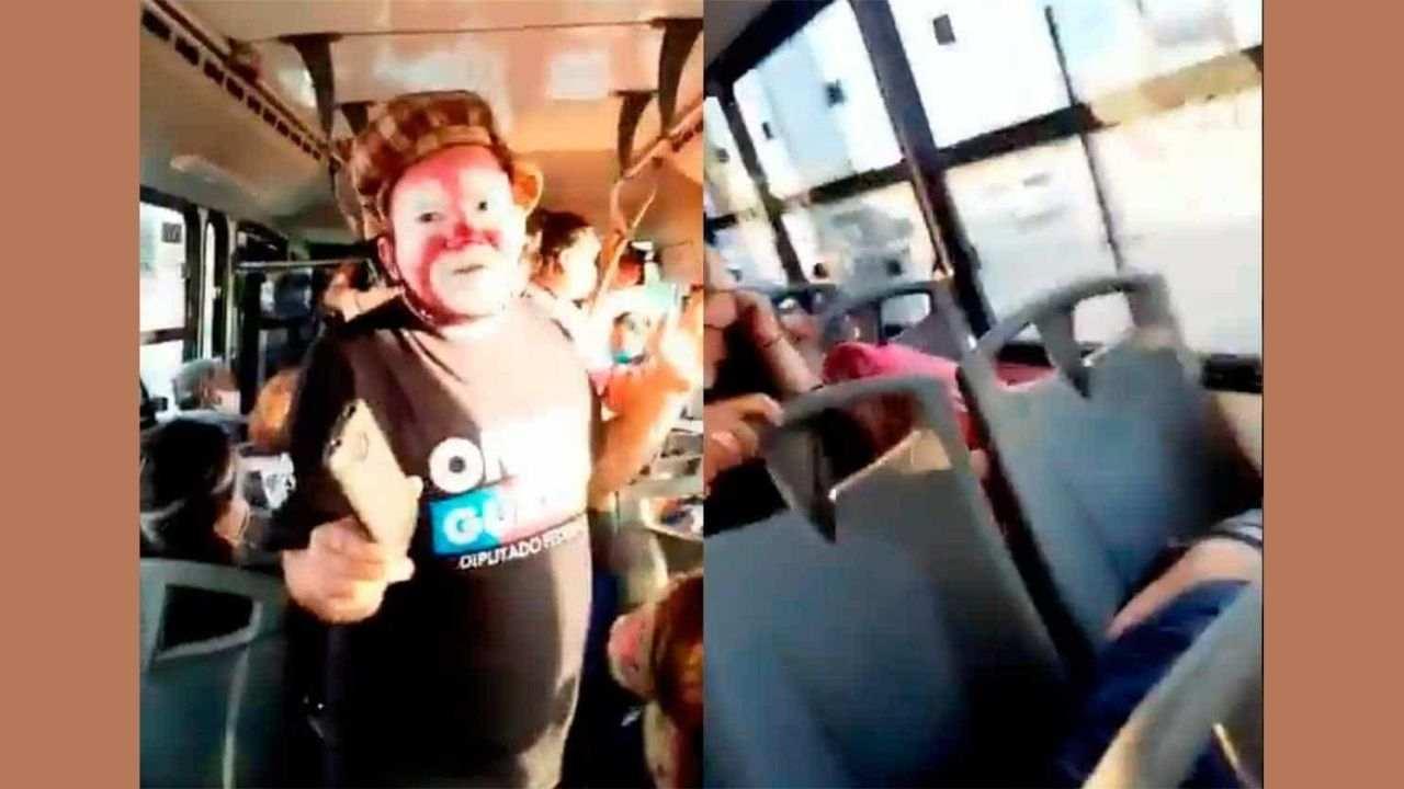 Usuarios graban balacera en pleno show de payasos en camión de Sonora