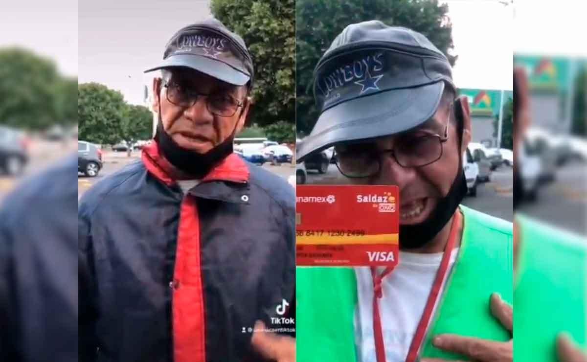 Don Felipe es un franelero del Edomex que pide ayuda para juntar dinero y poder operarse del ojo derecho