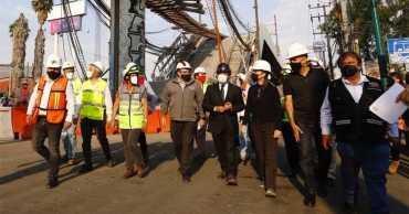 Jefa de gobierno declara tres días de luto por accidente de metro en CDMX