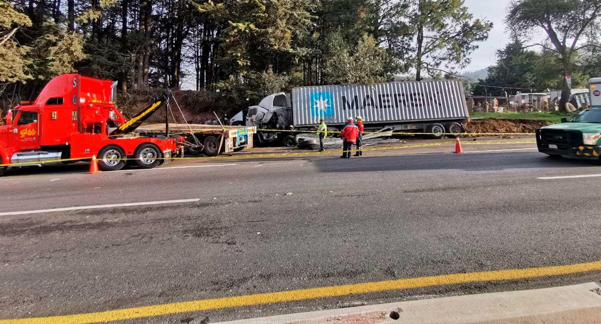 El accidente de hoy en la carretera México-Toluca