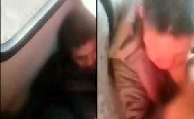Atrapan a presunto ladrón en transporte público en Toluca.