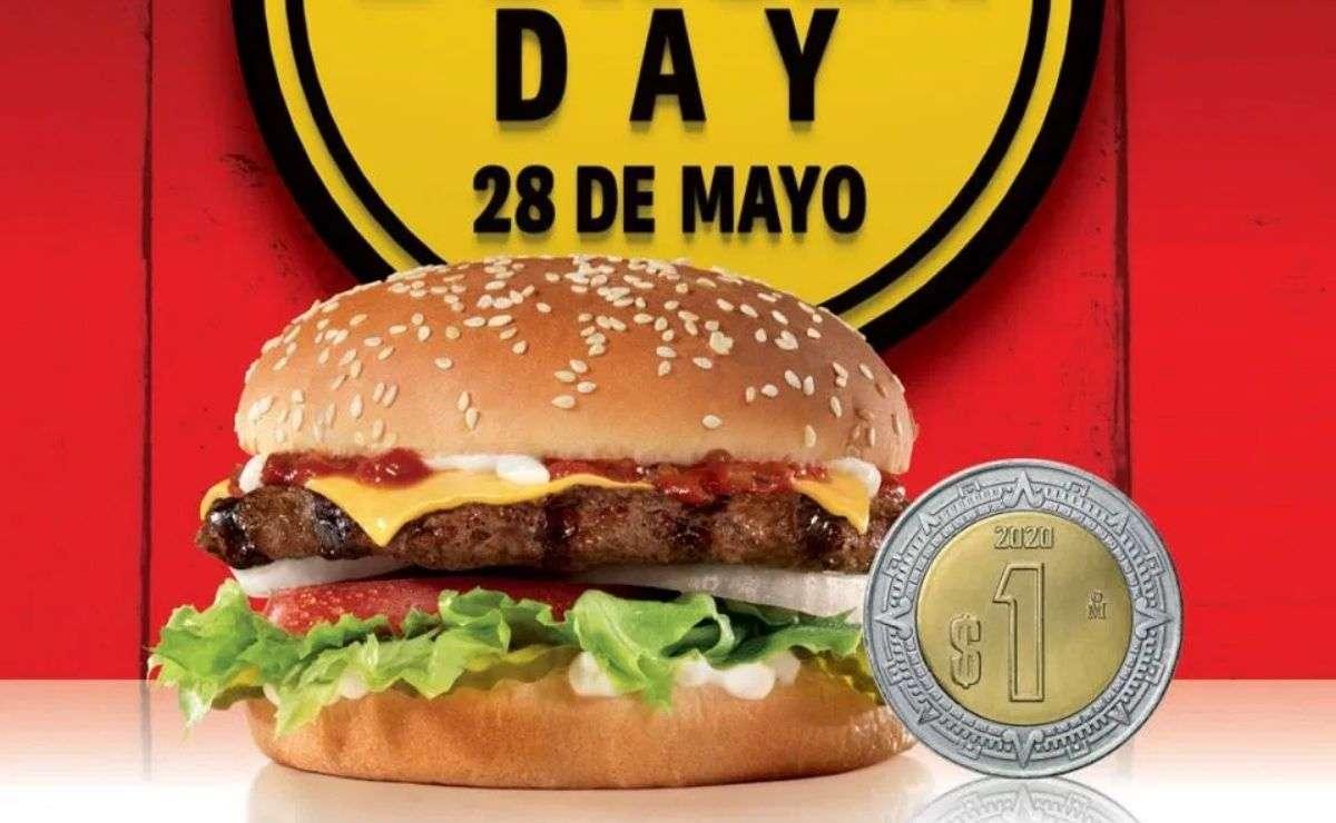 Carls Jr ofrecerá promoción de hamburguesas a solo 1 peso el viernes 28 de mayo