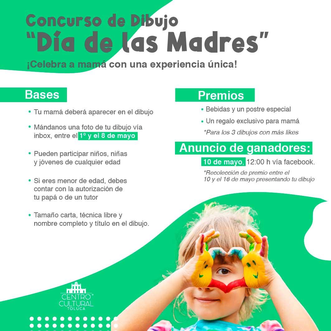 El Centro Cultural Toluca lanzó una convocatoria para un concurso de dibujo para festejar a mamá