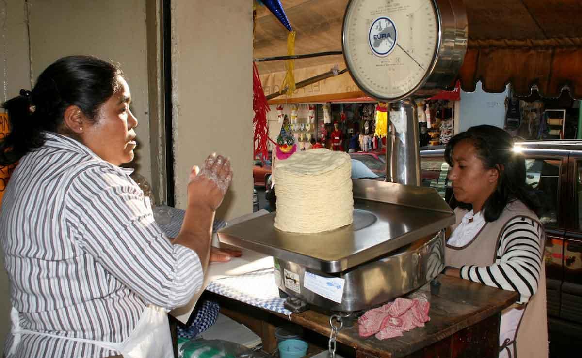 Precio de la tortilla en Toluca.