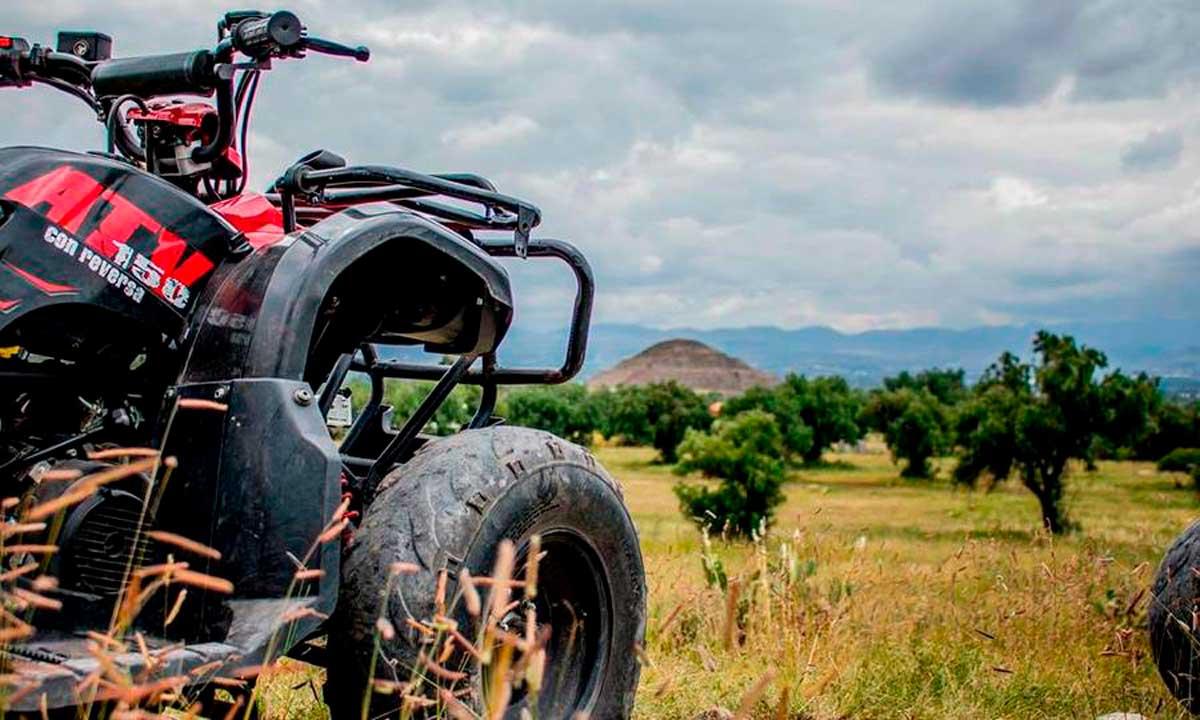 En Teotihuacán existe una experiencia para viajar en cuatrimoto