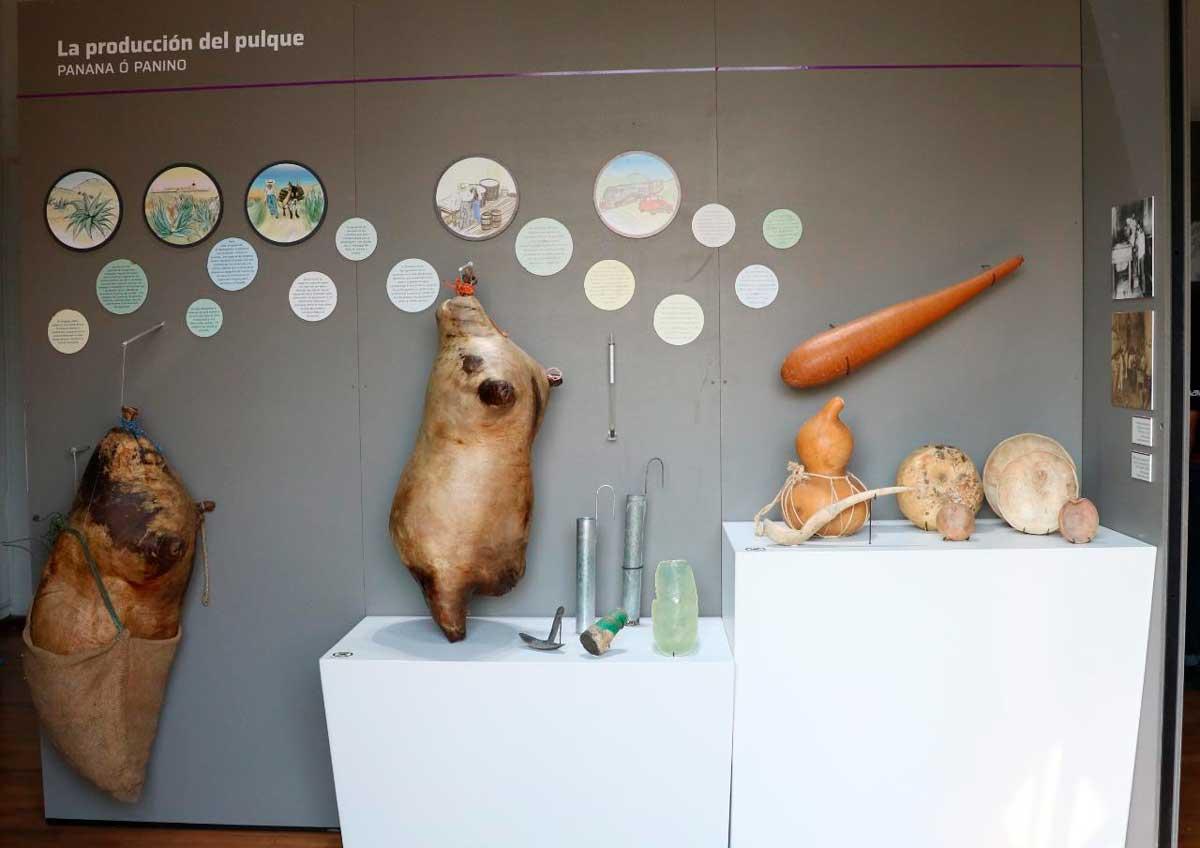 Está es una de las salas que se puede encontrar en el museo del pulque