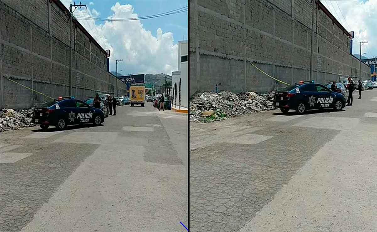 Encuentran feto en bolsa de basura en Toluca.