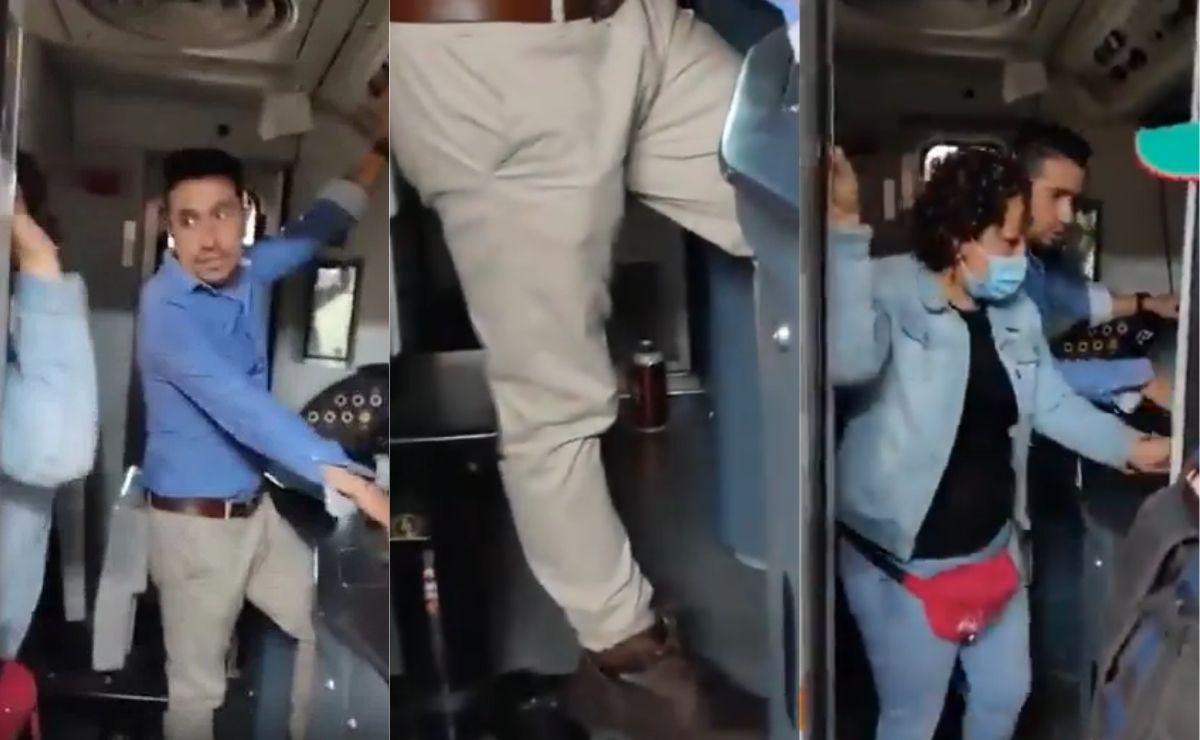 Exhiben a conductor de Línea 1 del Metro tomando cerveza